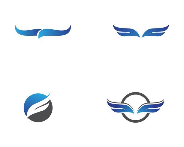 Falkeflügellogo und Symbolvektorillustrator