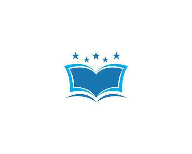 Utbildning Bok Logo Mall vektor illustration