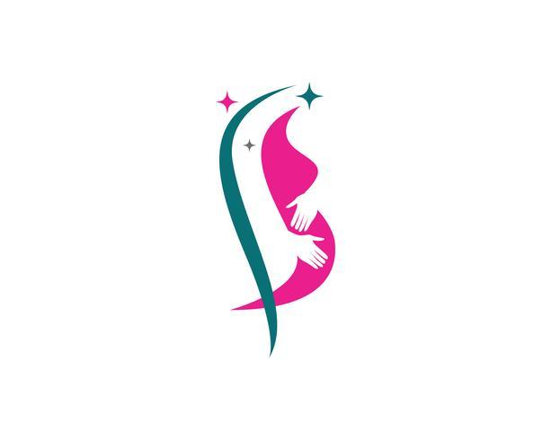 Gravid logotyp mall vektor ikon illustration