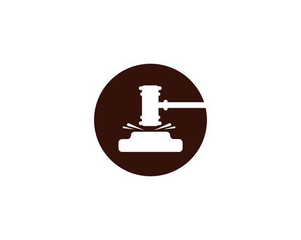 Hammer Gericht Vektor Icon Design Illustration