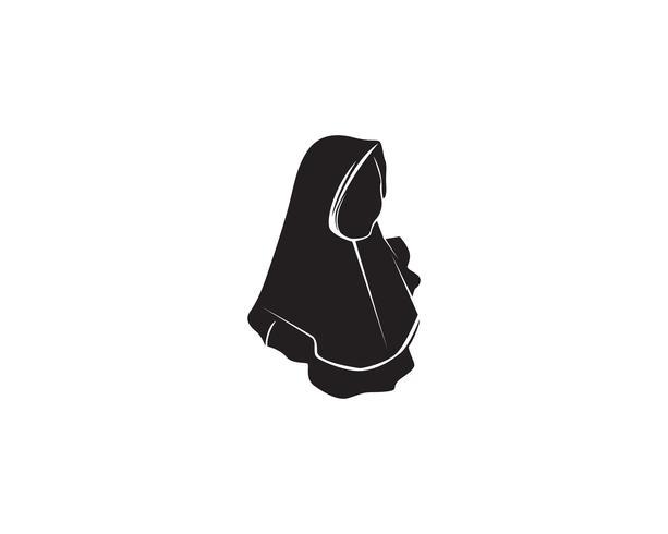 logotipo de vetor preto hijab