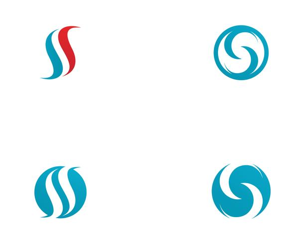 Plantilla de vector logo S
