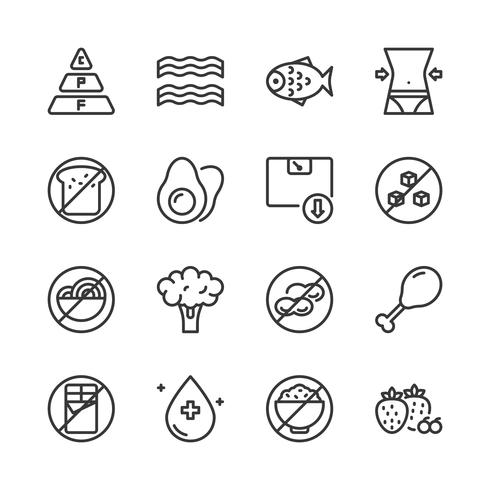 Ketogenic diet icon set.Vector illustration  vector