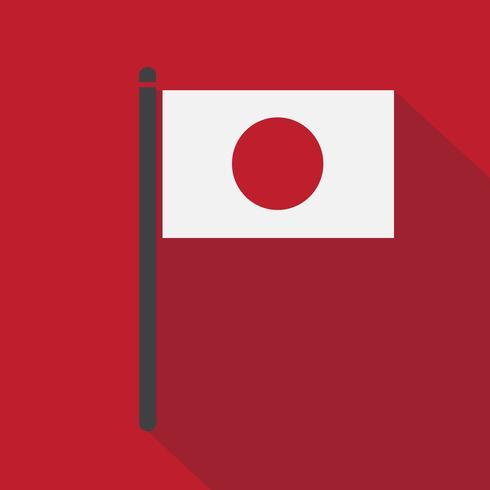 Japan Flagg symbol tecken