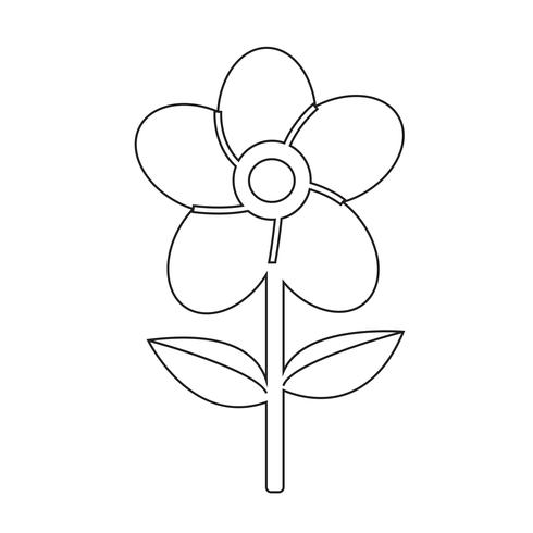 Signe symbole fleur icône vecteur