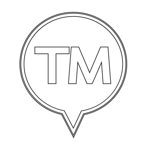 trademark button  symbol sign