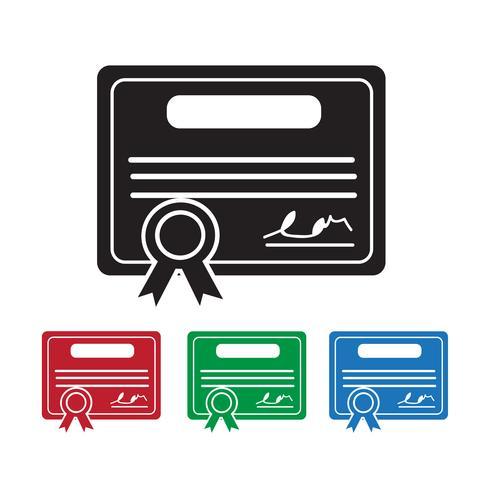 Certificate Icon  symbol sign