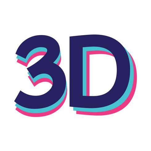 Icono 3d signo signo