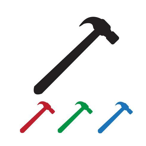segno di simbolo dell'icona del martello