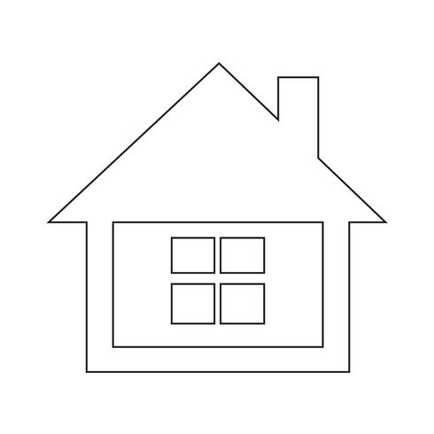 icono de inicio símbolo de signo vector
