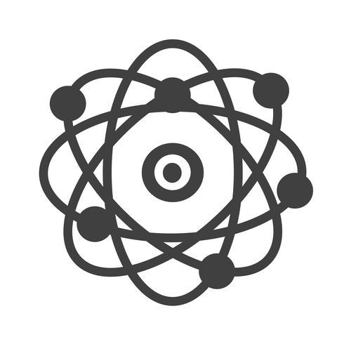 icono de átomo símbolo de signo vector