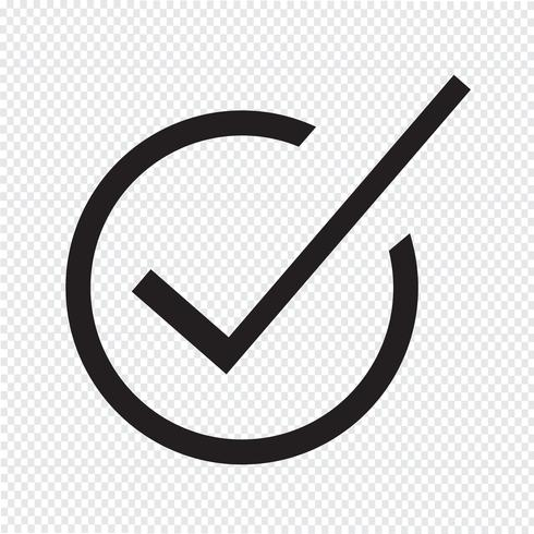 Correct icon  symbol sign