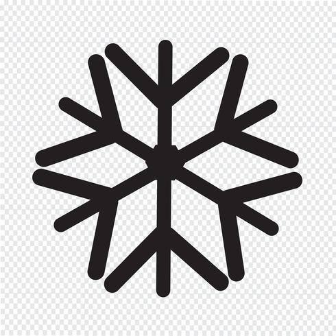 Signo de símbolo de icono de copo de nieve