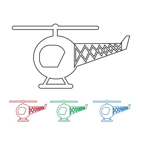 Helicopter Icon  symbol sign vector