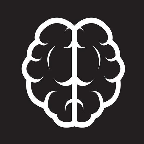 Brain ikon symbol tecken
