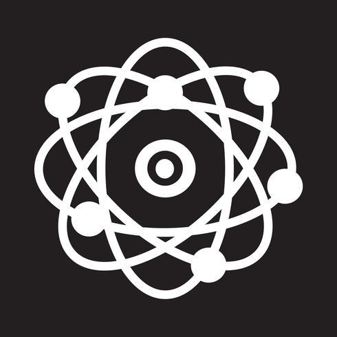 símbolo de ícone de átomo
