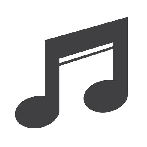 Music Icon  symbol sign vector