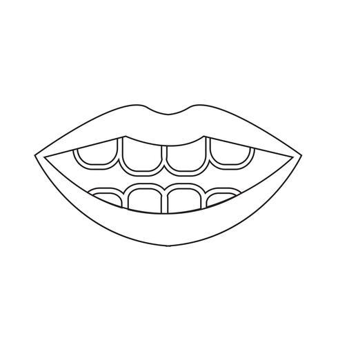 mond pictogram symbool teken