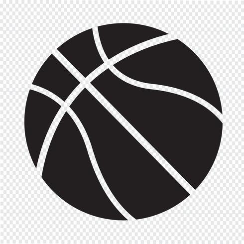 símbolo de ícone de basquete