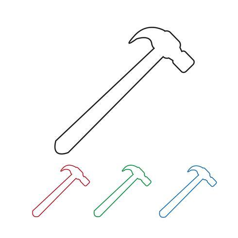 símbolo de ícone de martelo