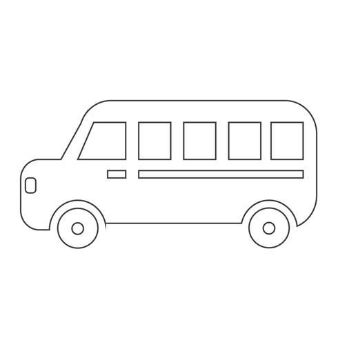 signe de symbole d'icône de voiture