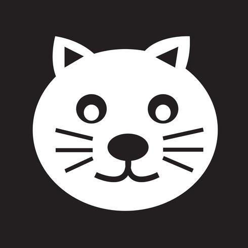 icono de gato símbolo signo vector