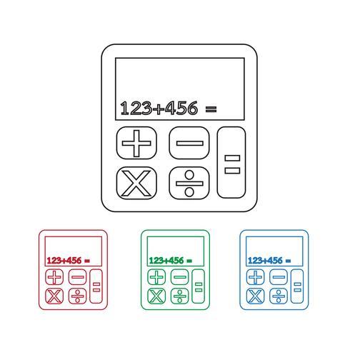 icono de calculadora símbolo de signo