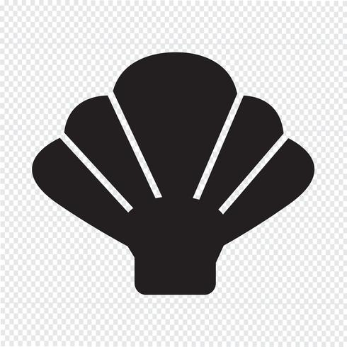 Shell icon  symbol sign vector