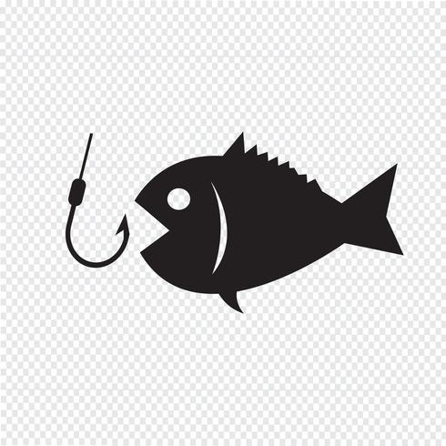 Signe symbole de pêche