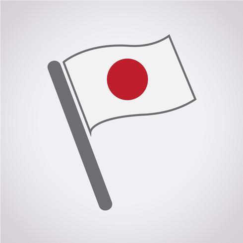 Japan Flagge Symbol Zeichen