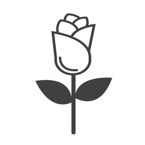 rose icon  symbol sign