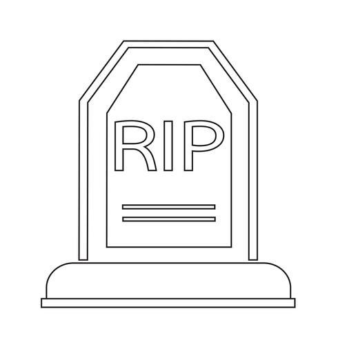 Grave Icon  symbol sign vector