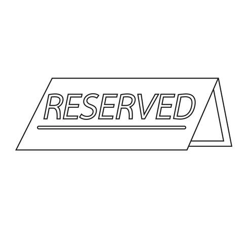 reserved icon  symbol sign