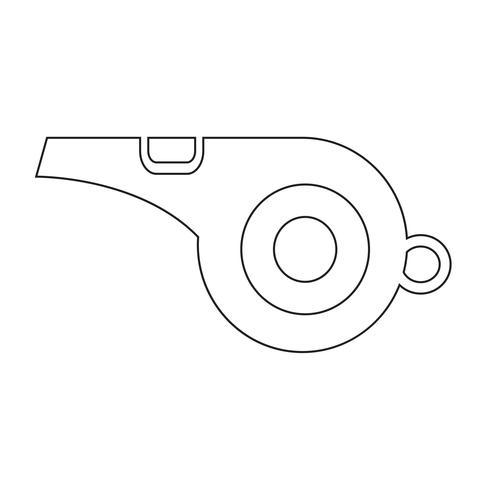 sifflet icône symbole signe