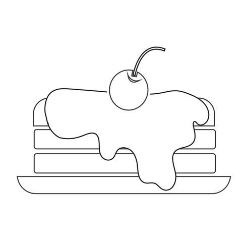 pancake icon  symbol sign vector