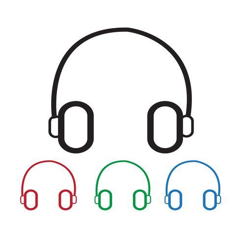 sinal de símbolo de ícone de fone de ouvido
