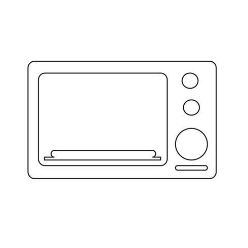 icono de horno símbolo de signo