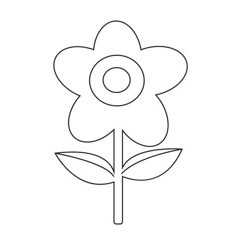 Flower icon  symbol sign vector