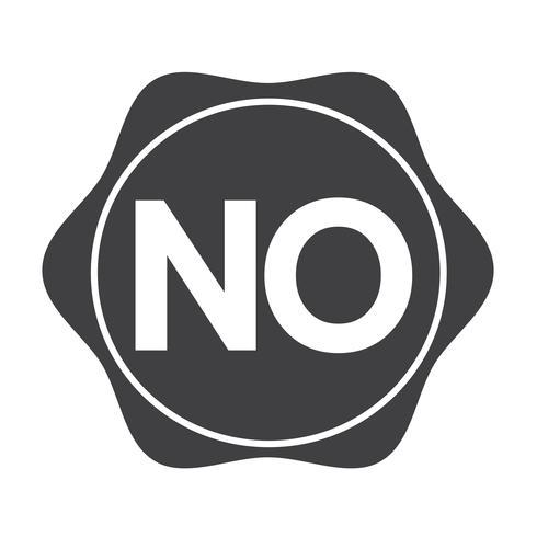 nessun segno simbolo pulsante