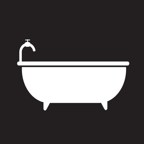 Signo de símbolo de icono de bañera vector