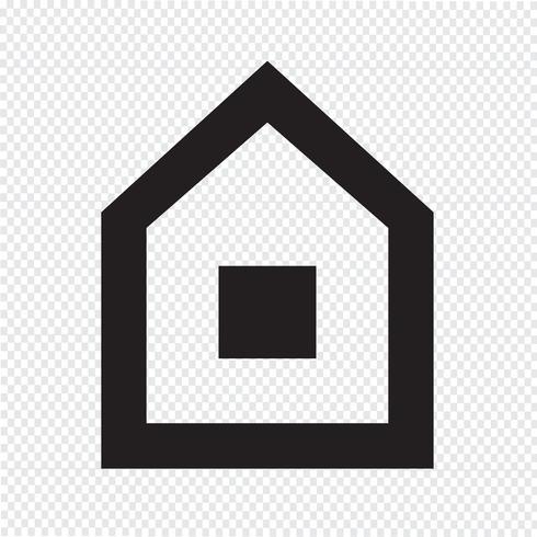 Icono de la casa símbolo de signo