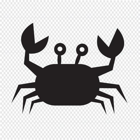 icono de cangrejo símbolo de signo
