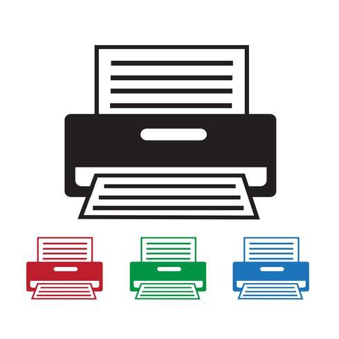 Segno simbolo icona stampante