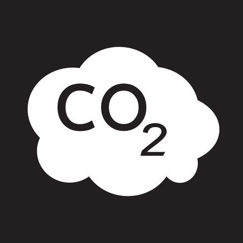 CO2 pictogram symbool teken