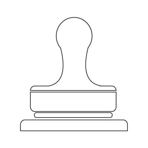 Stämpel ikon symbol tecken