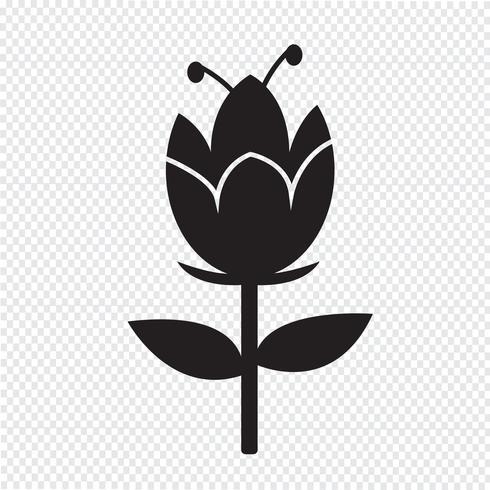 Bloem pictogram symbool teken
