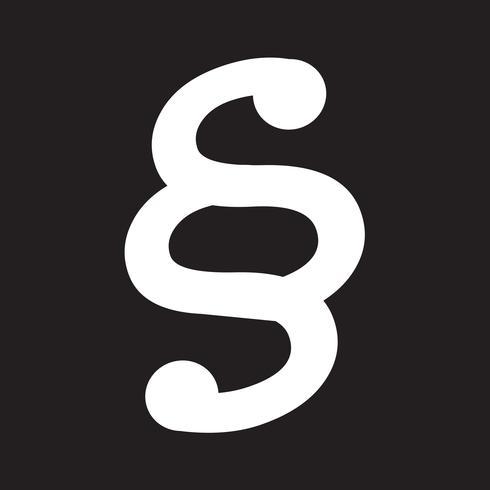 símbolo de ícone de parágrafo