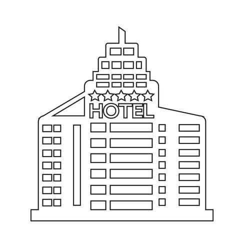 Hotel Icon symbol tecken