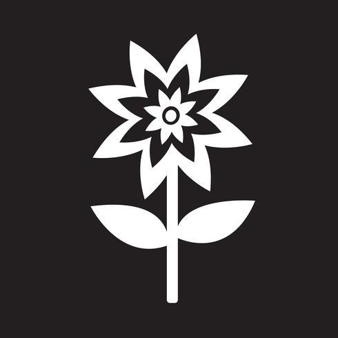 Signe symbole fleur icône