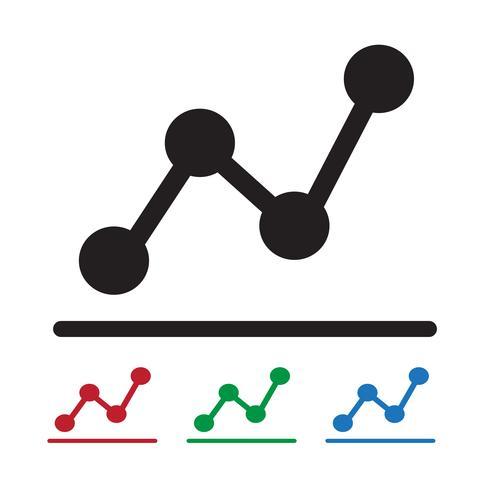 icono de gráfico símbolo signo
